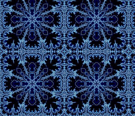 fractal lace in blue fabric by jeallen on Spoonflower - custom fabric