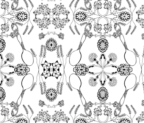 my grandmother's spoon fabric by kt40 on Spoonflower - custom fabric