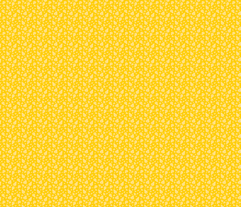 Leaves on Yellow fabric by tortagialla on Spoonflower - custom fabric
