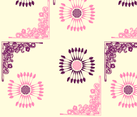 vintage_spoonsnflowers fabric by snork on Spoonflower - custom fabric