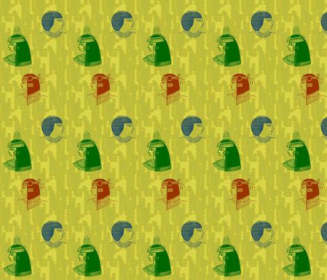 Egyptian Heads-058 fabric by kkitwana on Spoonflower - custom fabric