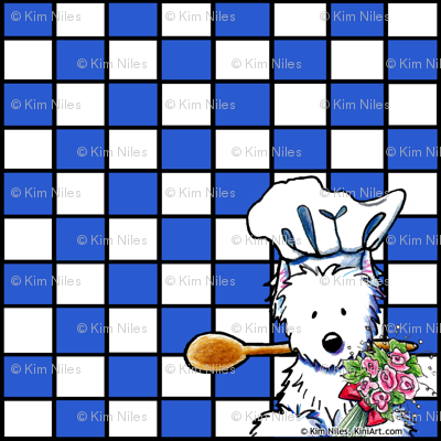 Spoons and Flowers Westie Chef