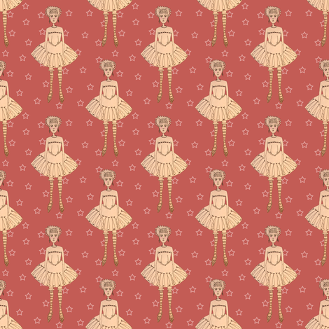 Moody Tutu Girl fabric by emilykariya on Spoonflower - custom fabric