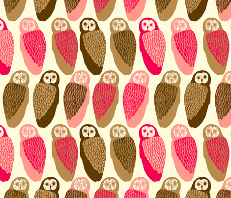 Owls fabric by lydia_meiying on Spoonflower - custom fabric