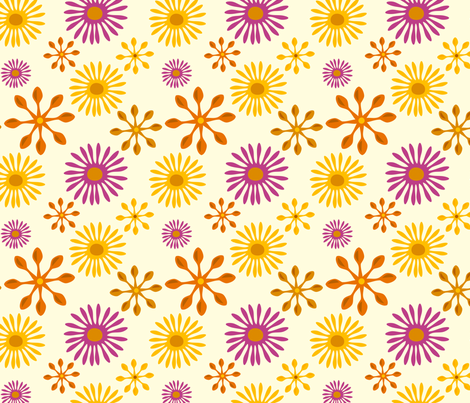 Daisy Spoons fabric by jenimp on Spoonflower - custom fabric