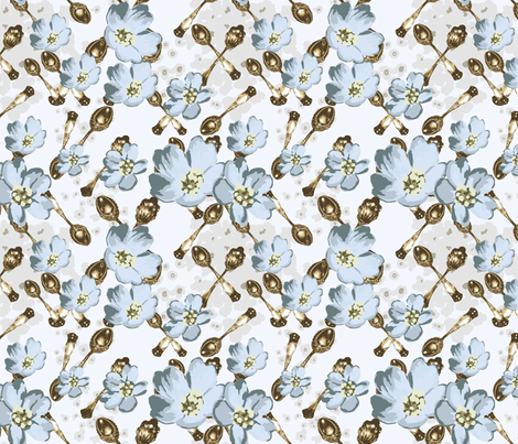 spoon fabric by ky on Spoonflower - custom fabric