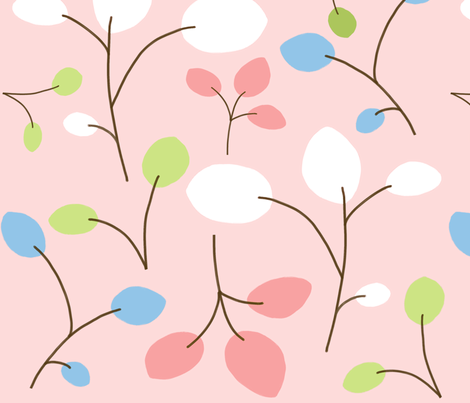 colorful leaves 1 fabric by emilyb123 on Spoonflower - custom fabric