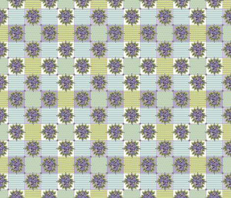 hydrangeablocks fabric by leslipepper on Spoonflower - custom fabric