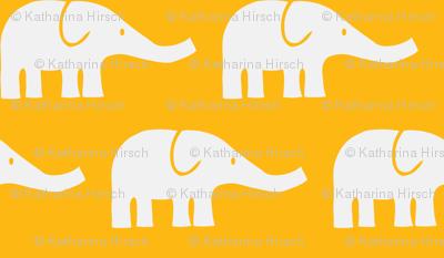 LARGE Elephants in orange