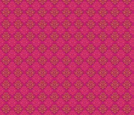 hot_pink_indian_damask fabric by pixeldust on Spoonflower - custom fabric