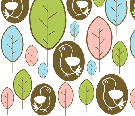 birds of a feather fabric by emilyb123 on Spoonflower - custom fabric