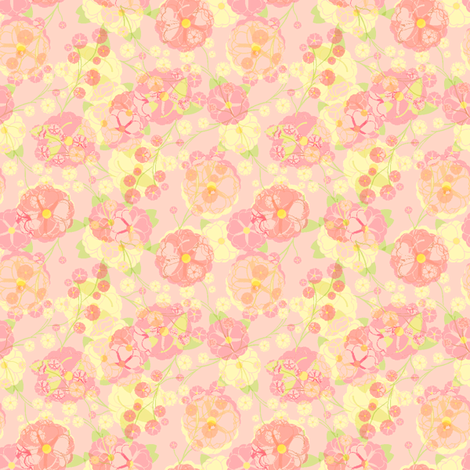 Rose Party - Strawberry Pink Milk fabric by inscribed_here on Spoonflower - custom fabric