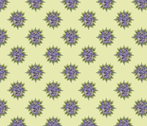 hydrangeabouquet-sage fabric by leslipepper on Spoonflower - custom fabric