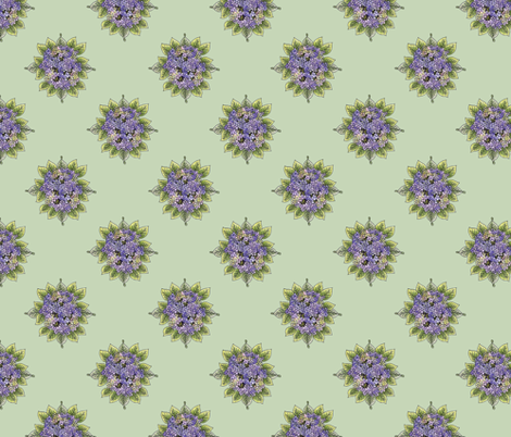hydrangeabouquet-moss fabric by leslipepper on Spoonflower - custom fabric