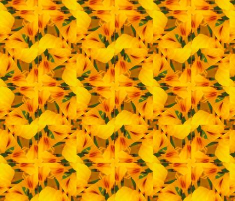 Picnik_collage_4x4-2a_nasturtium fabric by khowardquilts on Spoonflower - custom fabric