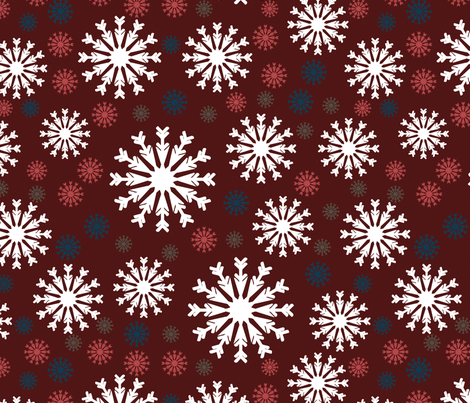 snowflakes fabric by suziedesign on Spoonflower - custom fabric