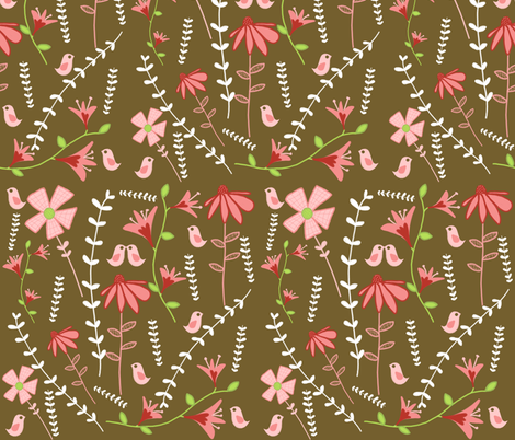 blooming garden fabric by emilyb123 on Spoonflower - custom fabric