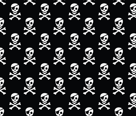 Pirate Skulls  fabric by pixeldust on Spoonflower - custom fabric
