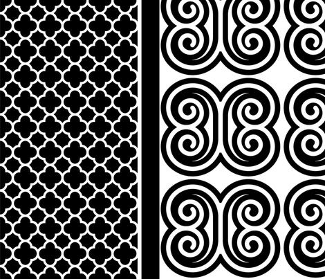 Mod Butterfly Border Print fabric by pixeldust on Spoonflower - custom fabric