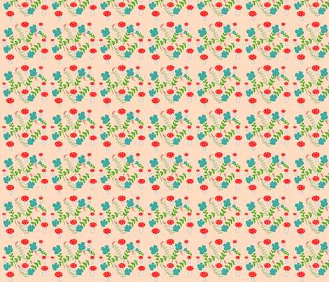 Pale Pink Mushrooms fabric by disgusted_cats on Spoonflower - custom fabric
