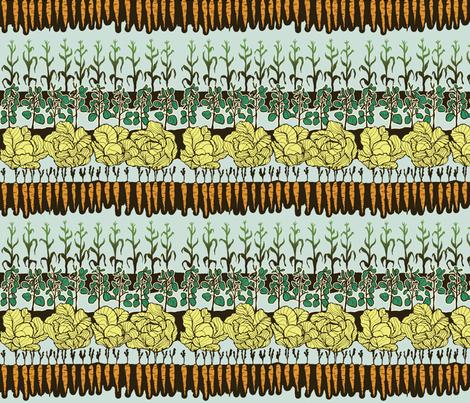 In the Garden fabric by 1canoe2 on Spoonflower - custom fabric