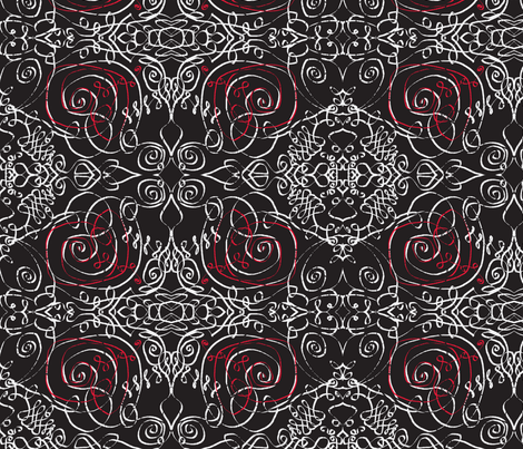 wrought winter night fabric by bandanna on Spoonflower - custom fabric