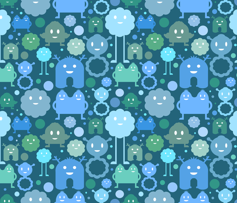 Monsters On the Loose - Boy fabric by jesseesuem on Spoonflower - custom fabric