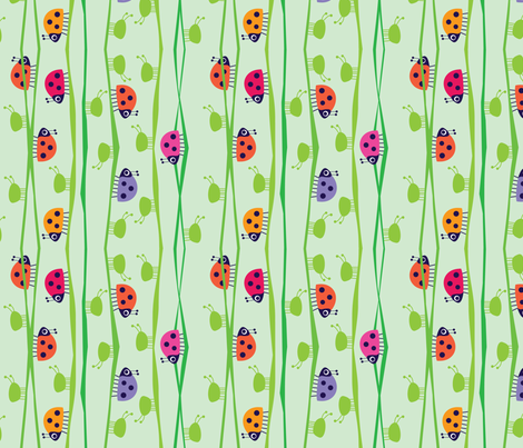 My Little Helpers_Light fabric by spellstone on Spoonflower - custom fabric