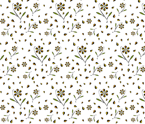 He Loves Me, He Loves Me Not fabric by boodillys on Spoonflower - custom fabric