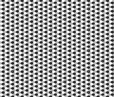 Monster Scallop - Black and White fabric by jesseesuem on Spoonflower - custom fabric