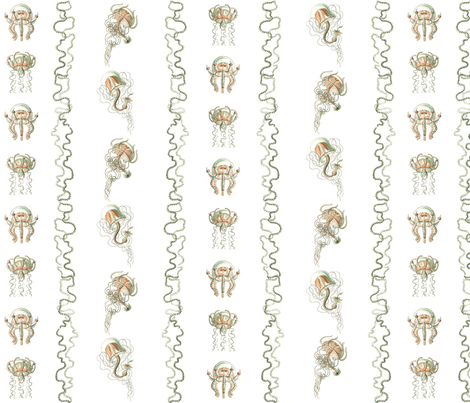 Jellyfish Stripes fabric by jellymania on Spoonflower - custom fabric