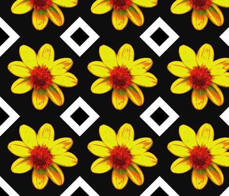 B_exp_db_45_single_yellow_dalia_Sept_23_2009_016 fabric by khowardquilts on Spoonflower - custom fabric