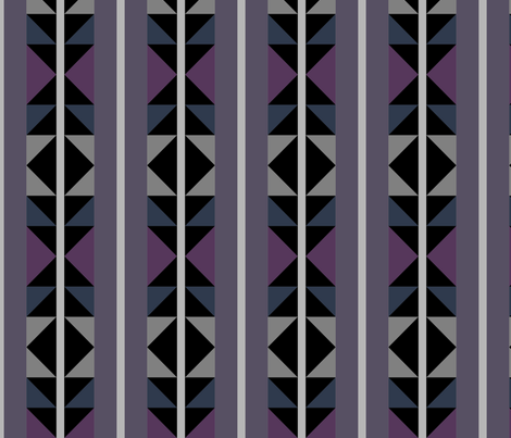 Triangles with Feathers fabric by bigboots on Spoonflower - custom fabric