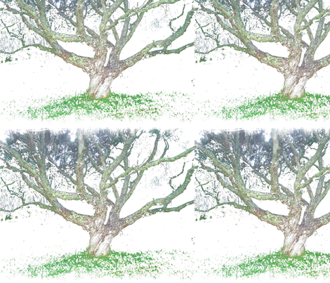 A_painted_tree fabric by simplydolling on Spoonflower - custom fabric