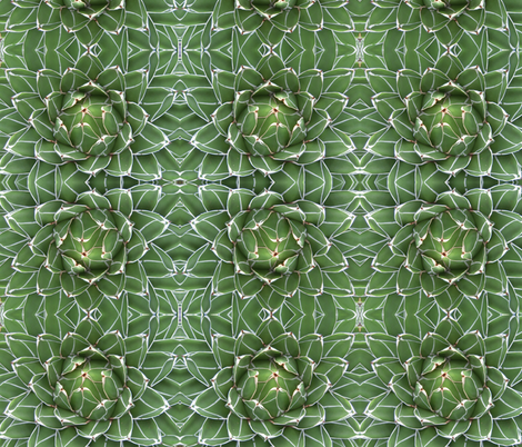 EDgreen_and_white fabric by daisy617 on Spoonflower - custom fabric