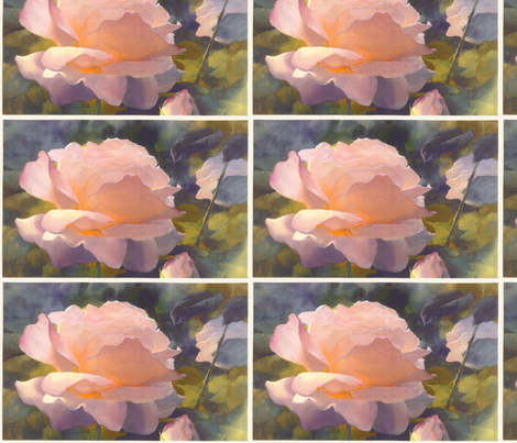 Mom's Pink Roses fabric by leslipepper on Spoonflower - custom fabric