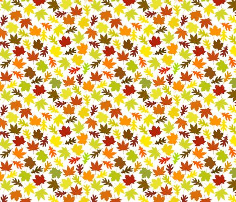 Autumn Leaves fabric by carinaenvoldsenharris on Spoonflower - custom fabric