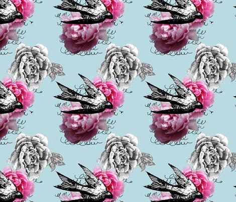 Caroline Blue fabric by cary_dingel on Spoonflower - custom fabric