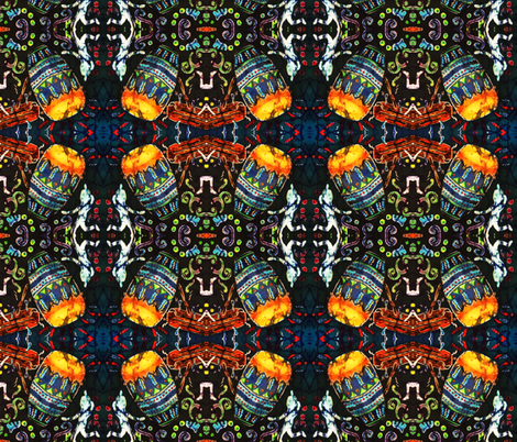 DRUM 2 by SUE DUDA fabric by suedudadesigns on Spoonflower - custom fabric
