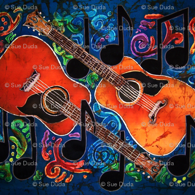 GUITARS 1 by SUE DUDA