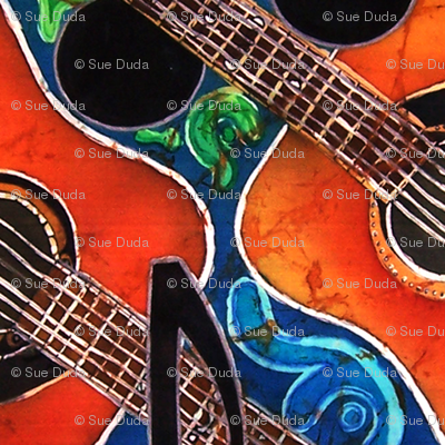 GUITARS 2 by SUE DUDA