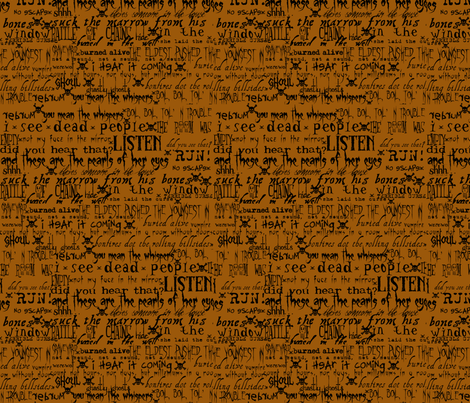 Spooky Sayings fabric by thoris_designs on Spoonflower - custom fabric