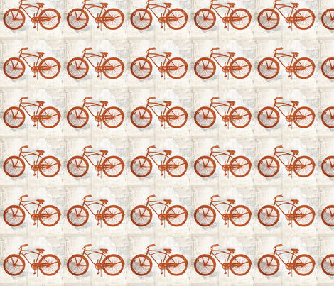 vintage bicycle cruiser fabric by mallennium on Spoonflower - custom fabric