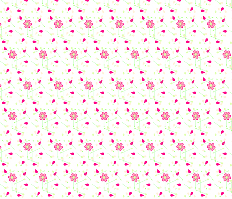 Cute Floral fabric by andsewon on Spoonflower - custom fabric