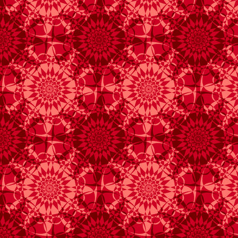 Star-Bright - Garnet Red fabric by inscribed_here on Spoonflower - custom fabric