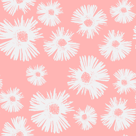 Paper Daisy - Perfect Pink © Kristopher K 2009 fabric by kristopherk on Spoonflower - custom fabric