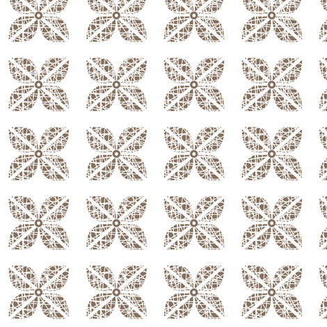 Scribble Flower - Coffee Bean fabric by kristopherk on Spoonflower - custom fabric