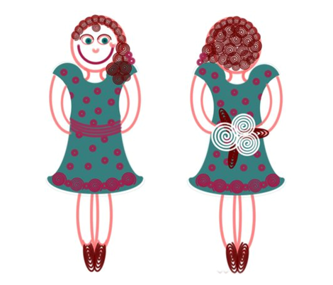 Curlicue Girl fabric by jasmo on Spoonflower - custom fabric