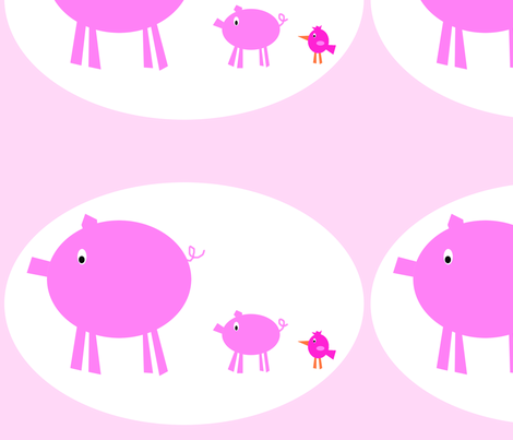 3_pigs_with_marquee_-2_copy fabric by petunias on Spoonflower - custom fabric