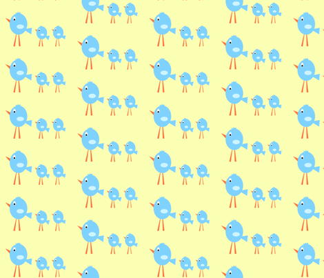 3_birds_-_yellow_tint_background_copy fabric by petunias on Spoonflower - custom fabric